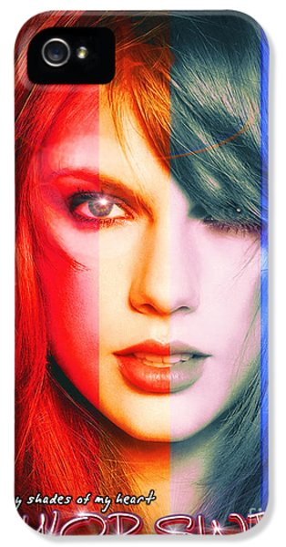 Taylor Swift - Sparks Alt Version IPhone 5 / 5s Case by Robert Radmore