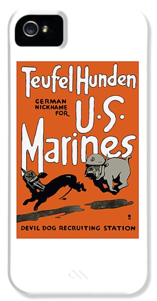 Americana iPhone 5 Cases - Teufel Hunden - German Nickname For US Marines iPhone 5 Case by War Is Hell Store