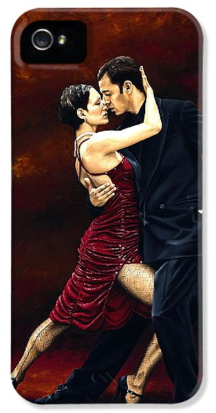 Dance iPhone 5 Cases - That Tango Moment iPhone 5 Case by Richard Young