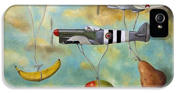 Airplane iPhone 5 Cases - The Amazing Race 6 iPhone 5 Case by Leah Saulnier The Painting Maniac