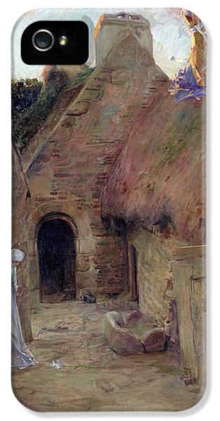 Hut iPhone 5 Cases - The Annunciation iPhone 5 Case by Luc Oliver Merson