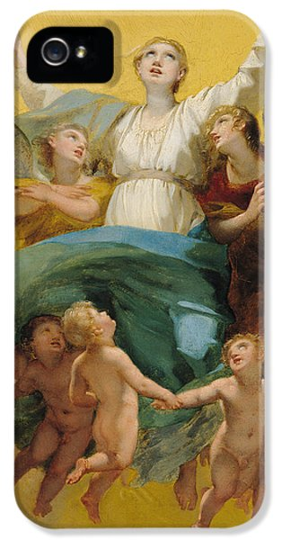 Angelic iPhone 5 Cases - The Assumption of the Virgin iPhone 5 Case by Pierre Paul Prudhon