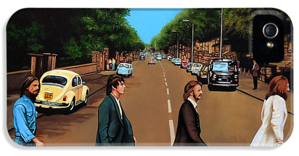 Road iPhone 5 Cases - The Beatles Abbey Road iPhone 5 Case by Paul Meijering