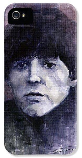 Paul Mccartney iPhone 5 Cases - The Beatles Paul McCartney iPhone 5 Case by Yuriy  Shevchuk