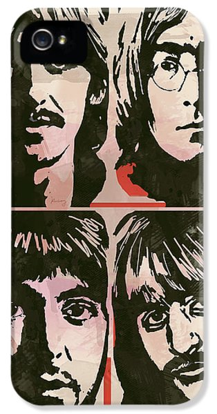 Ringo Starr iPhone 5 Cases - The Beatles Pop Stylised Art Sketch Poster iPhone 5 Case by Kim Wang