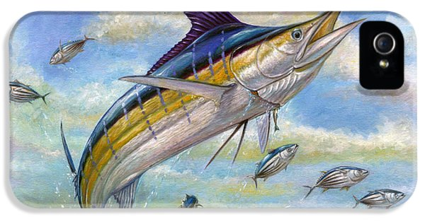 Fox iPhone 5 Cases - The Blue Marlin Leaping To Eat iPhone 5 Case by Terry  Fox