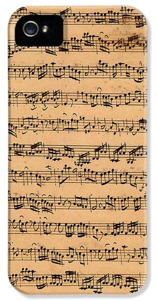 The Brandenburger Concertos IPhone 5 / 5s Case by Johann Sebastian Bach