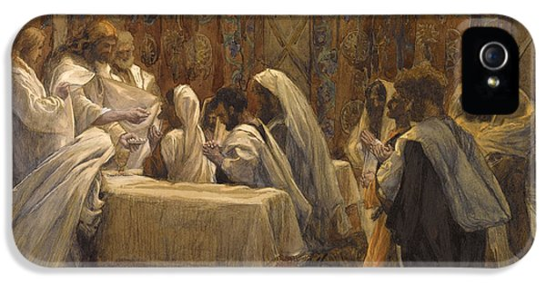 Son Of God iPhone 5 Cases - The Communion of the Apostles iPhone 5 Case by Tissot