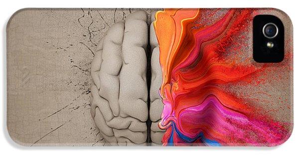 Creativity iPhone 5 Cases - The Creative Brain iPhone 5 Case by Johan Swanepoel