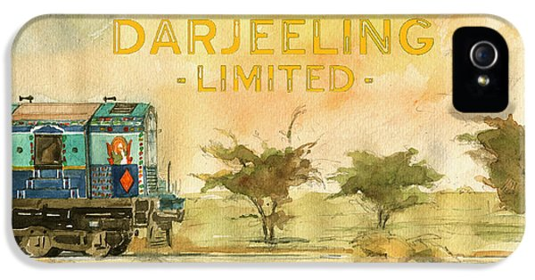 Film Watercolor iPhone 5 Cases - The Darjeeling limited poster film Wes Anderson iPhone 5 Case by Juan  Bosco