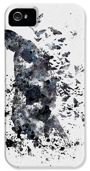 Illustration iPhone 5 Cases - The Dark Knight iPhone 5 Case by Rebecca Jenkins
