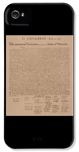 Us iPhone 5 Cases - The Declaration of Independence iPhone 5 Case by War Is Hell Store