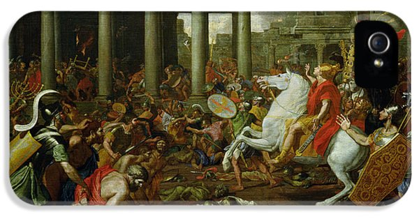The Destruction Of The Temples In Jerusalem By Titus IPhone 5 / 5s Case by Nicolas Poussin
