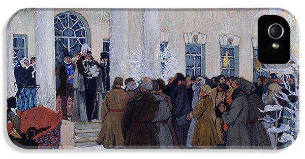Speech iPhone 5 Cases - The Emancipation of Russian Serfs iPhone 5 Case by Boris Mihajlovic Kustodiev
