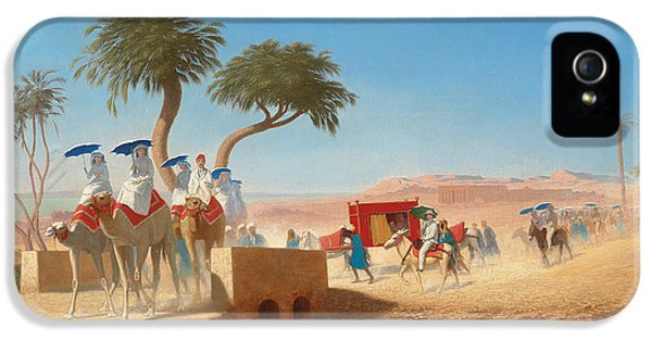 The Empress Eugenie Visiting The Pyramids IPhone 5 / 5s Case by Charles Theodore Frere