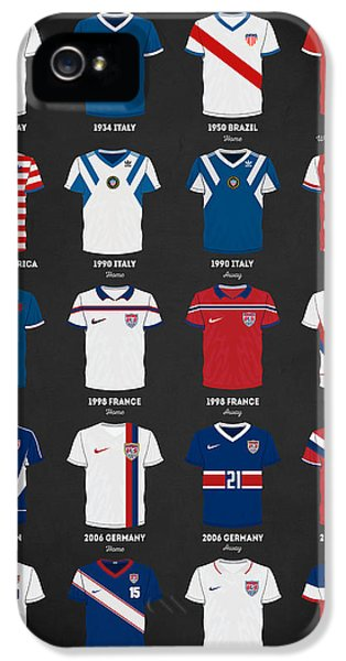 The Evolution Of The Us World Cup Soccer Jersey IPhone 5 / 5s Case by Taylan Soyturk