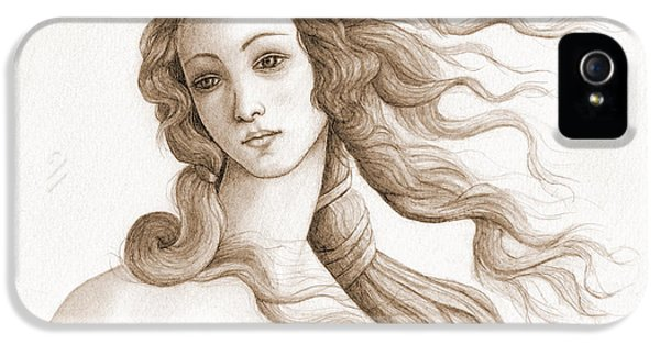 The Face Of A Goddess In Sepia IPhone 5 / 5s Case by Stevie the floating artist