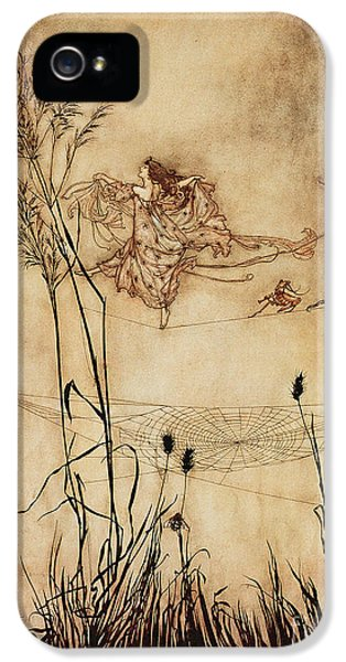 The Fairy's Tightrope From Peter Pan In Kensington Gardens IPhone 5 / 5s Case by Arthur Rackham