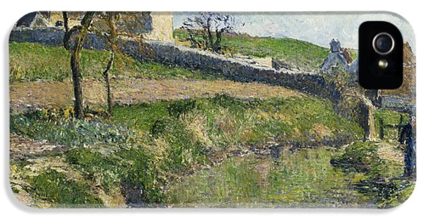 The Farm At Osny IPhone 5 / 5s Case by Camille Pissarro