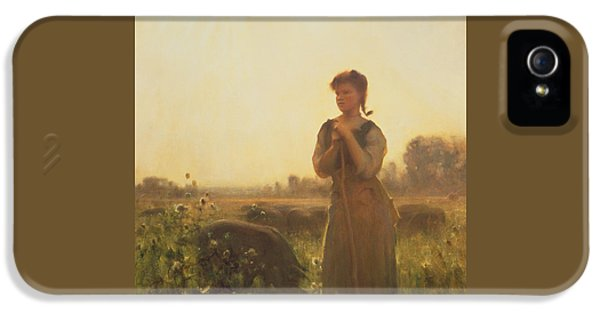 The Farm Girl IPhone 5 / 5s Case by Arthur Hacker