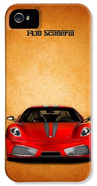 Ferrari iPhone 5 Cases - The Ferrari F430 iPhone 5 Case by Mark Rogan