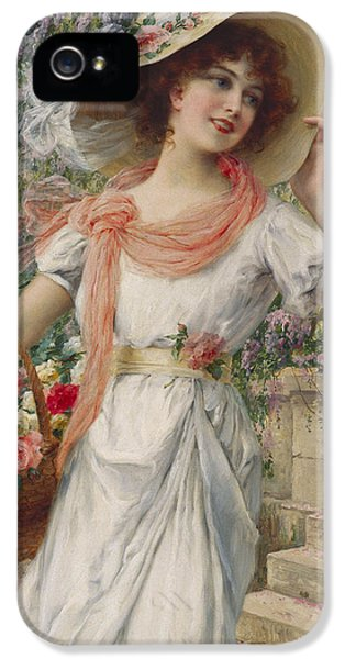 Garden iPhone 5 Cases - The Flower Girl iPhone 5 Case by Emile Vernon