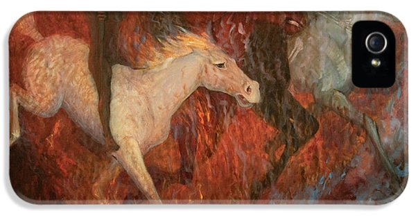 Four Horsemen Of The Apocalypse iPhone 5 Cases - The Four Horsemen of the Apocalypse iPhone 5 Case by Joan Columbus