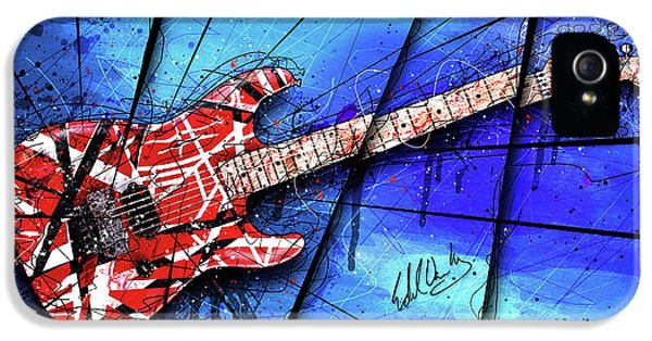 The Frankenstrat On Blue I IPhone 5 / 5s Case by Gary Bodnar