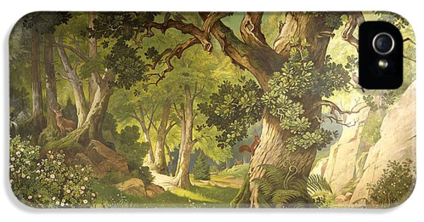 The Garden Of The Magician Klingsor, From The Parzival Cycle, Great Music Room IPhone 5 / 5s Case by Christian Jank