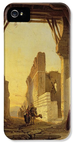 The Gates Of El Geber In Morocco IPhone 5 / 5s Case by Francois Antoine Bossuet
