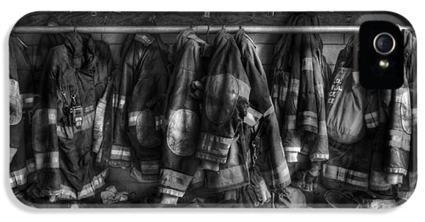 Hose iPhone 5 Cases - The Gear of Heroes - Firemen - Fire Station iPhone 5 Case by Lee Dos Santos