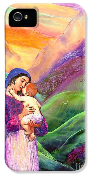 Virgin Mary And Baby Jesus, The Greatest Gift IPhone 5 / 5s Case by Jane Small