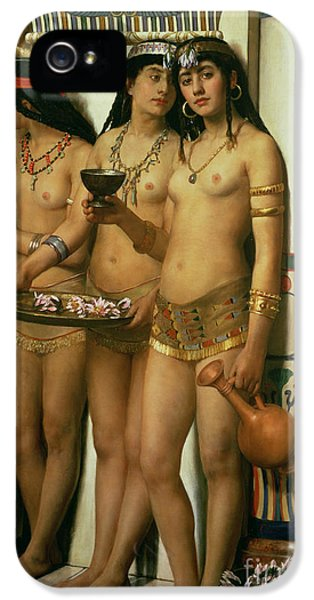 Ancient iPhone 5 Cases - The Handmaidens of Pharaoh iPhone 5 Case by John Collier