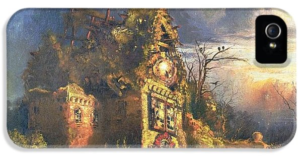 Spooky iPhone 5 Cases - The Haunted House iPhone 5 Case by Thomas Moran