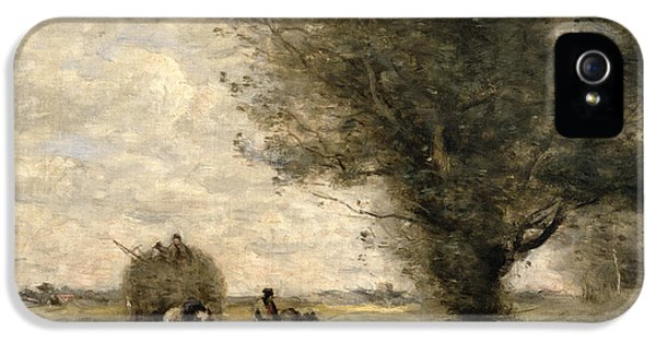 Riding iPhone 5 Cases - The Haycart iPhone 5 Case by Jean Baptiste Camille Corot