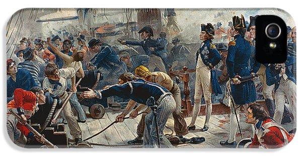 The Hero Of Trafalgar IPhone 5 / 5s Case by William Heysham Overend