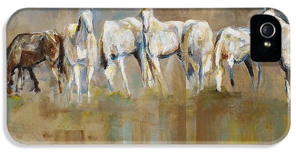 Equine iPhone 5 Cases - The Horizon Line iPhone 5 Case by Frances Marino