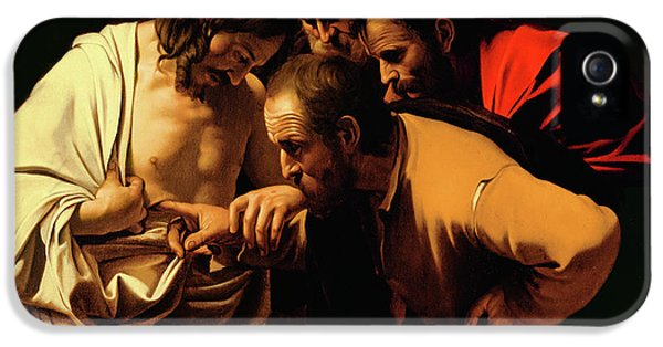 Son Of God iPhone 5 Cases - The Incredulity of Saint Thomas iPhone 5 Case by Caravaggio
