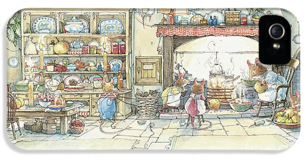 The Kitchen At Crabapple Cottage IPhone 5 / 5s Case by Brambly Hedge