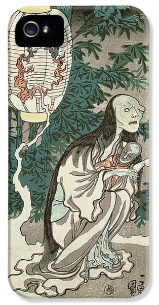 Ghost iPhone 5 Cases - The Lantern of the Ghost of Sifigured O-iwa iPhone 5 Case by Japanese School
