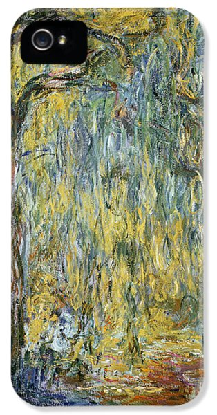 The Large Willow At Giverny IPhone 5 / 5s Case by Claude Monet