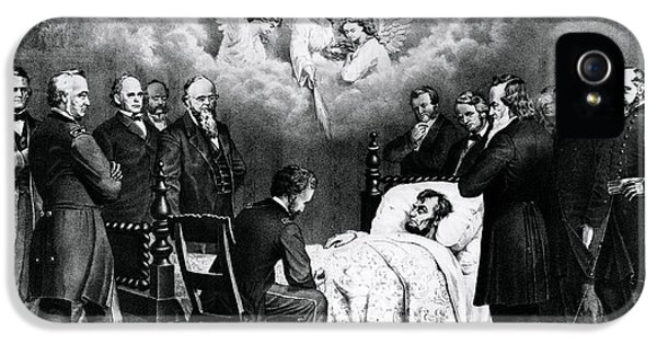 House Of Representatives iPhone 5 Cases - The Last Moments Of President Lincoln iPhone 5 Case by Photo Researchers