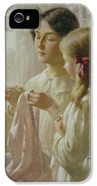 Curtain iPhone 5 Cases - The Lesson iPhone 5 Case by William Kay Blacklock
