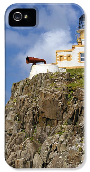 Foghorn iPhone 5 Cases - The lighthouse at Neist. iPhone 5 Case by Stan Pritchard