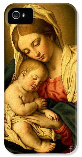 Son Of God iPhone 5 Cases - The Madonna and Child iPhone 5 Case by Il Sassoferrato
