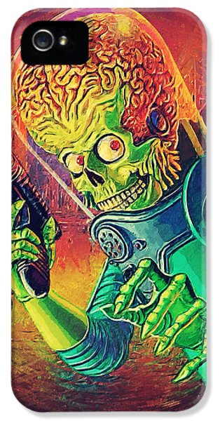 The Martian - Mars Attacks IPhone 5 / 5s Case by Taylan Soyturk