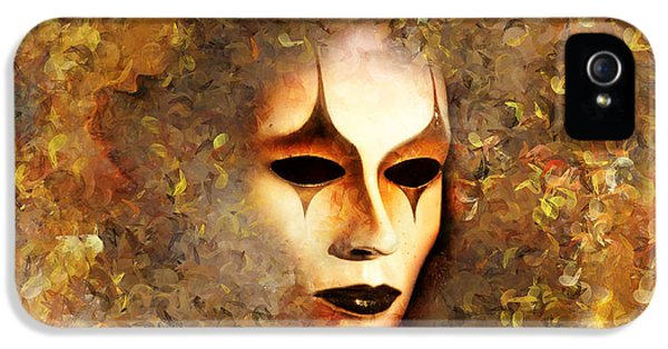 Masquerade iPhone 5 Cases - The Mask iPhone 5 Case by Photodream Art