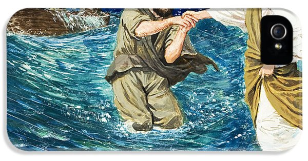 The Miracles Of Jesus Walking On Water  IPhone 5 / 5s Case by Clive Uptton