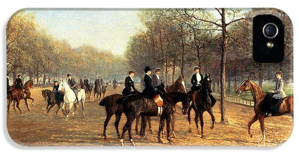 The Morning Ride Rotten Row Hyde Park IPhone 5 / 5s Case by Heywood Hardy