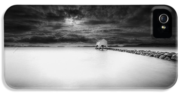 Shed iPhone 5 Cases - The Old Boat Shed iPhone 5 Case by Erik Brede